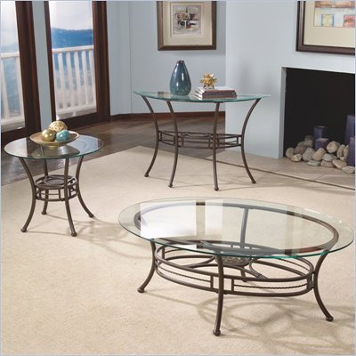 Standard Apprentice Glass Top Cocktail Table and End Table Set