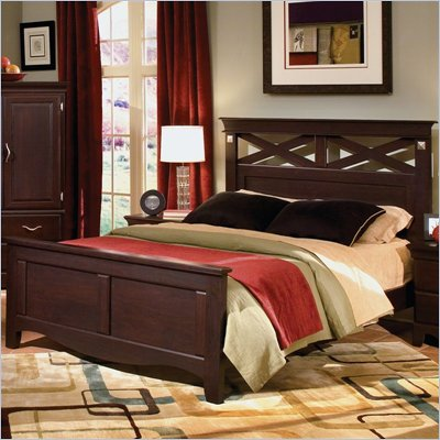 Standard City Crossing Panel Bed in Cherry Finish