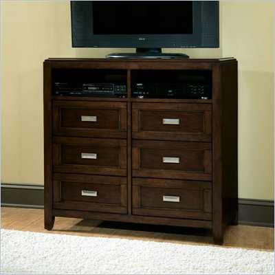  Standard City Gazebo II Chest and Entertainment Console in Dutch Chocolate Brown Finish 