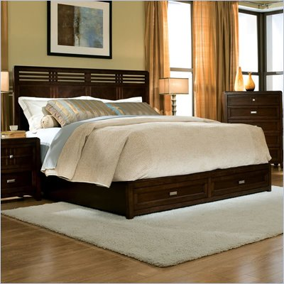  Standard City Gazebo II Queen/King Panel Bed in Dutch Chocolate Brown Finish 