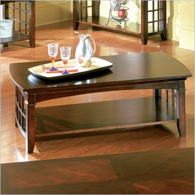 Standard Glasgow  Rectangular Wood  Coffee Table in Cherry Finish
