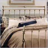 Hillsdale Charleston Metal Headboard in Antique Brass