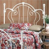 Hillsdale Cherie Metal Headboard in White Finish