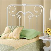 Hillsdale Lindsey Metal Headboard in White