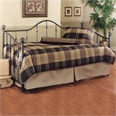 Hillsdale Chalet Metal Daybed in Black Finish