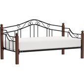 Hillsdale Madison Wood and Metal Daybed in Cherry Finish
