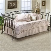 Hillsdale Camelot Metal Daybed in Black Gold Finish