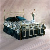 Hillsdale Chelsea Metal Poster Bed in Polished Brass Finish