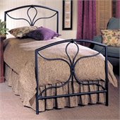 Hillsdale Morgan Black Metal Panel Bed