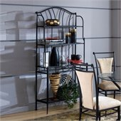 Hillsdale Cierra Mix-n-Match Kitchen Bakers Rack in Lush Black