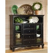Hillsdale Wilshire Distressed Black Buffet Cabinet