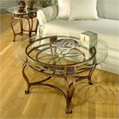 Hillsdale Scottsdale Contemporary Glass Top Table Set