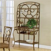 Hillsdale Brookside Stone Bakers Rack with Wine Storage