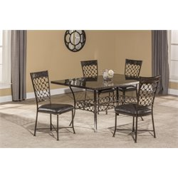 Hillsdale Brescello 5 Piece Dining Set in Charcoal