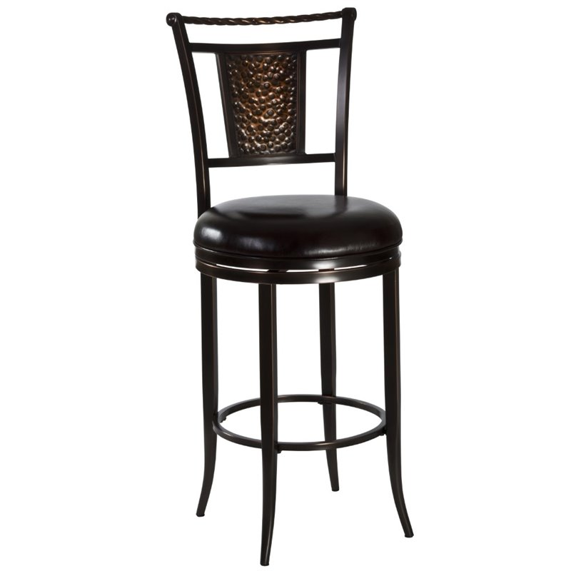 Hillsdale Parkside 26 Swivel Counter Stool in Copper 1426312
