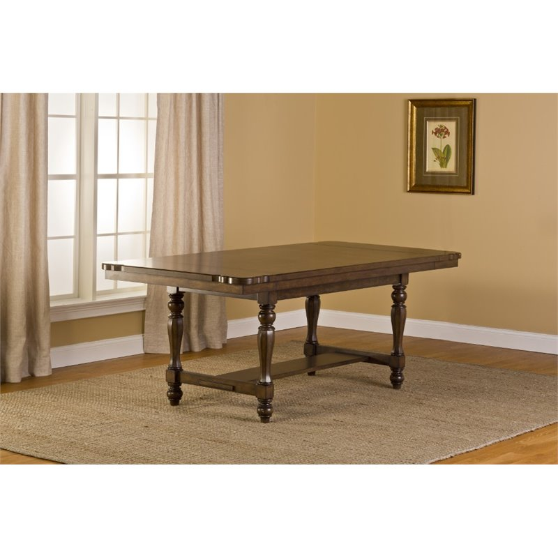 Hillsdale Seaton Springs 108 Dining Table in Weathered Walnut