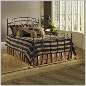 Hillsdale Ennis Metal Poster Bed in Black Gold Finish