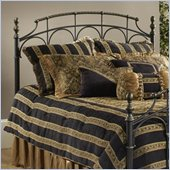Hillsdale Ennis Metal Headboard in Black Gold