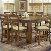 Hillsdale Hemstead Counter Height Gathering Table in Rich Oak Finish