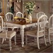 ADD TO YOUR SET: Hillsdale Wilshire Rectangular Casual Dining Table in Antique White Finish