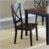 Hillsdale Englewood Wood Dining Side Chair in Rubbed Black Finish (Set of 2)
