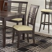 Hillsdale Tiburon Fabric Side Chair in Dark Brown Espresso Finish (Set of 2)