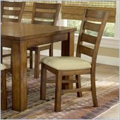 Hillsdale Hemstead Fabric and Wood Dining Side Chair in Rich Oak Finish  (Set of 2)