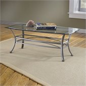 Hillsdale Abbington Dark Pewter Coffee Table with Glass Top