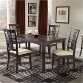 Hillsdale Tiburon 5 Piece Rectangular Dining Table Set in Espresso