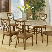 Hillsdale Brookside 5 Piece Rectangular Dining Table Set with Oval Back Chairs