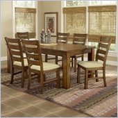 Hillsdale Hemstead 5 Piece Rectangular Dining Table Set in Dark Oak