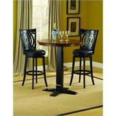 Hillsdale Dynamic Designs 3 Piece Pub Table Set with Van Druas Stools
