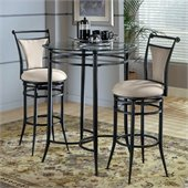 Hillsdale Cierra Mix-n-Match 3pc Pub Table Set with Stools in Fawn