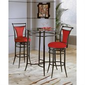 Hillsdale Cierra Mix-n-Match 3pc Pub Table Set with Stools in Flame