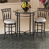 Hillsdale Mix-n-Match 3pc Pub Table Set with Hudson Stools