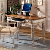 Hillsdale Wilshire Wood Writing Desk in Antique White