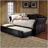Hillsdale Brookland Leather Daybed in Dark Brown Finish with Trundle
