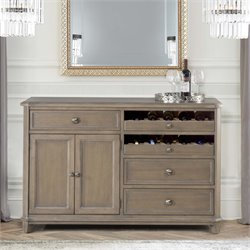 Hillsdale Savona Wine Rack Server in Vintage Gray