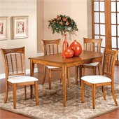 Hillsdale Bayberry 5 Piece Rectangular Dining Table Set in Oak Finish
