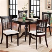Hillsdale Bayberry Pedestal Round Dining Table Set in Dark Cherry