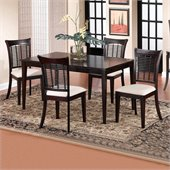 Hillsdale Bayberry Rectangular Dining Table Set in Dark Cherry Finish