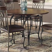 Hillsdale Montello Round Casual Dining Table in Old Steel Finish
