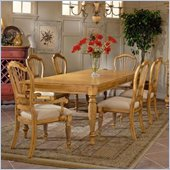 Hillsdale Wilshire 7 Piece Rectangular Dining Table Set in Antique Pine Finish