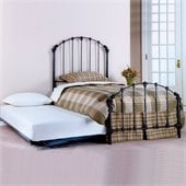 Hillsdale Bonita Twin Metal Panel Bed with Roll-Out Trundle