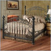 Hillsdale Chesapeake Metal Poster Bed in Antique Black Gold Finish