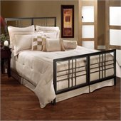 Hillsdale Tiburon Metal Panel Bed in Magnesium Pewter Finish