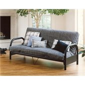 Hillsdale Geneva Black Full Metal Futon Frame