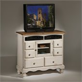 Hillsdale Wilshire Plasma/LCD Antique White TV Chest