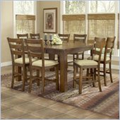 Hillsdale Hemstead 9 Piece Counter Height Dining Set in Dark Oak