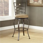 Hillsdale Marin 30 Inch Swivel Bar Stool in Powder Coated Brown